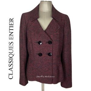 Classiques Entier double breasted tweed blazer